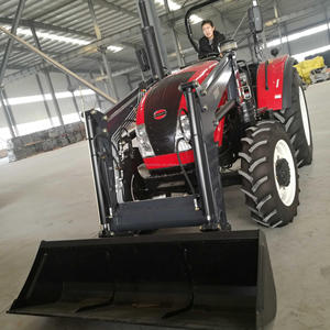 Popular agriculture farm machinery equipment 70hp tractor with implements