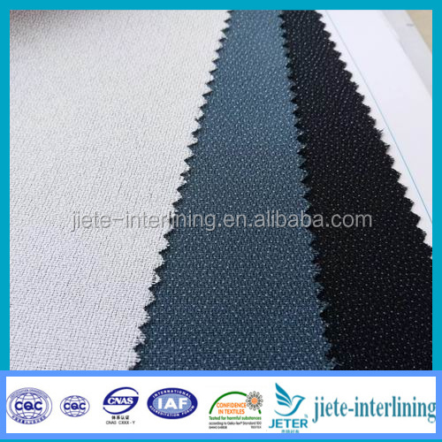 fusible interlining for coat 75D uniform overcoat adhesive interlining