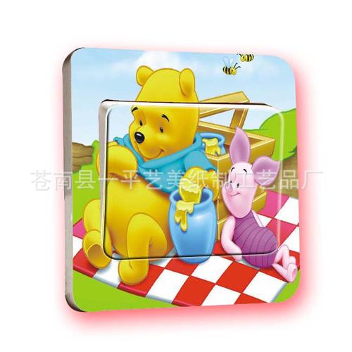 Winnie-the-Pooh-cartoon-paste-wholesale-wall-sticker-home