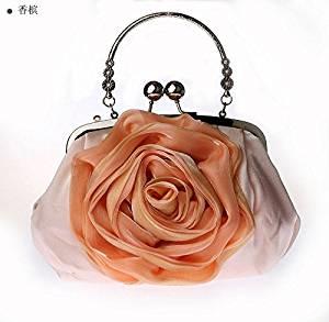 Satin flowers evening bag bride in the bag evening bag joker cheongsam dress