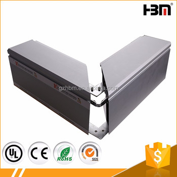 Front Cover Open 120mm Depth Snap Extrusion Aluminum Profile Frame