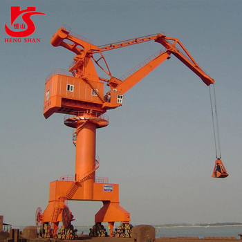 50T mobile portal quayside container crane for sale