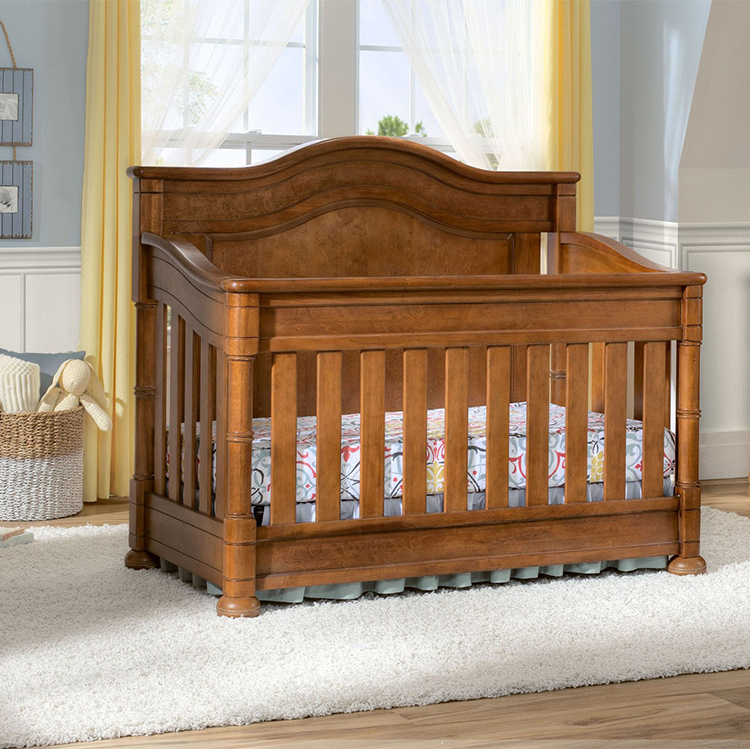 2017 Hot Sale Baby Bed Design 4 in 1 Wooden Convertible Baby Crib