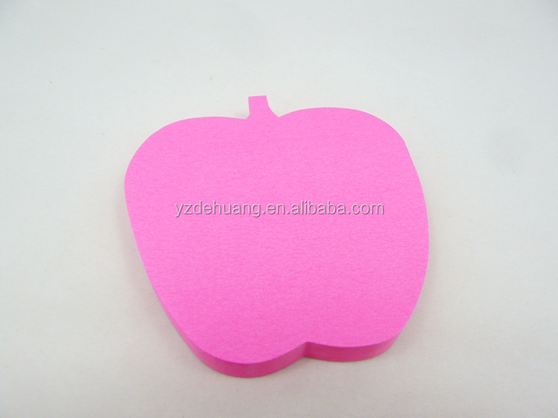 wholesale china supplier neon color apple shaped custom sticky notes