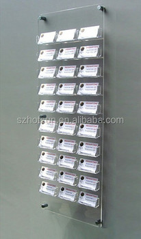 Wall Mounting Type Acrylic Card Displaywall Perspex Business Card