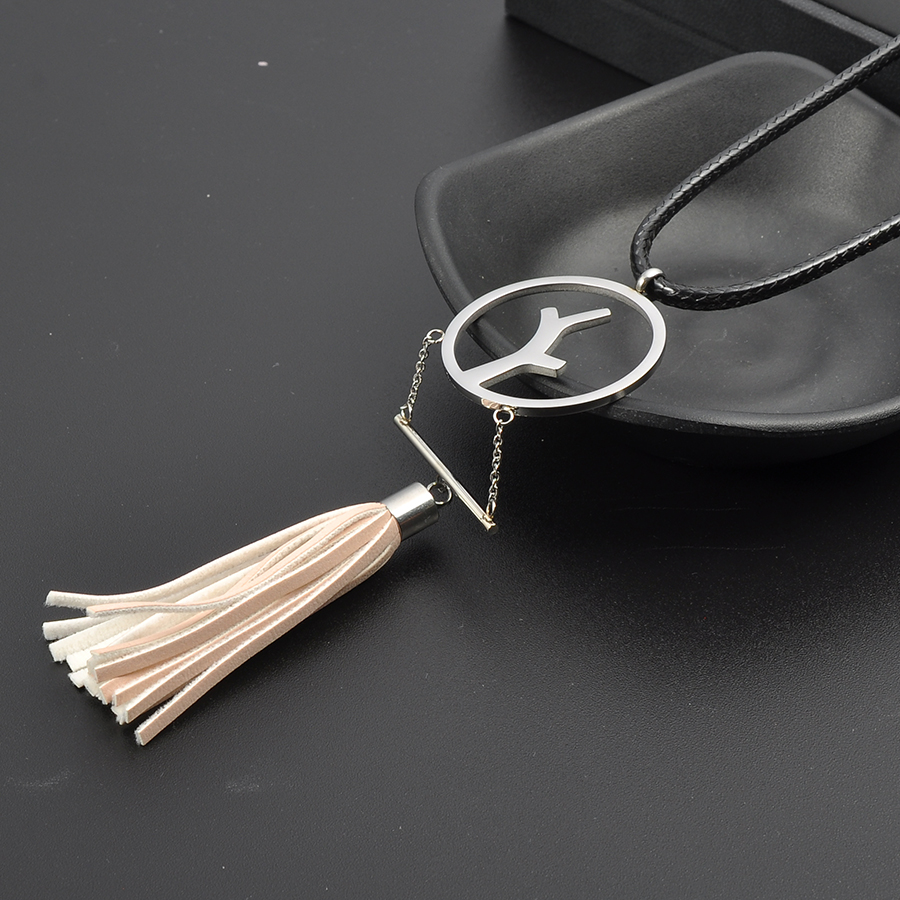 Wholesale Women Colorful Bohemian Style Leather Tassel Boho Necklace