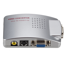 Universale NTSC PAL VGA a TV RCA AV Segnale Adattatore Video <span class=keywords><strong>Converter</strong></span> Switch Box Composito per il Computer Portatile Del <span class=keywords><strong>PC</strong></span>