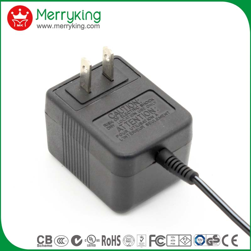 Merryking linear transformer AC/AC Adapter 110VAC  9VAC 12VAC 24VAC 1000mA  US Wall Mount AC power supply