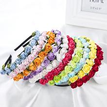 Dámská čelenka do vlasů s růžičkami v různých barvách z Aliexpress