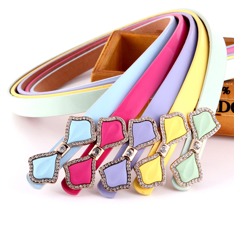 Nice design factory make buckle belts wholesale lady pu leather women belt