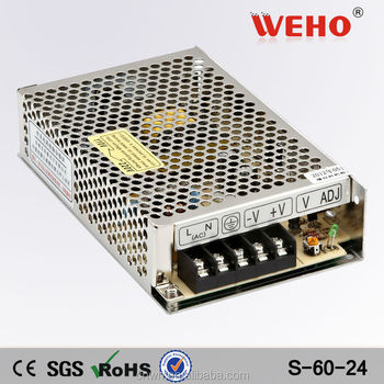 S-60-24 Ac Dc Transformer 60w 24 Volts Switch Mode Industrial ...