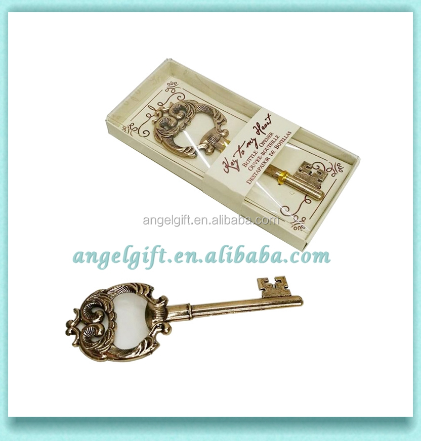 Wedding Favors Gold Key to My Heart Key Bottle Opener