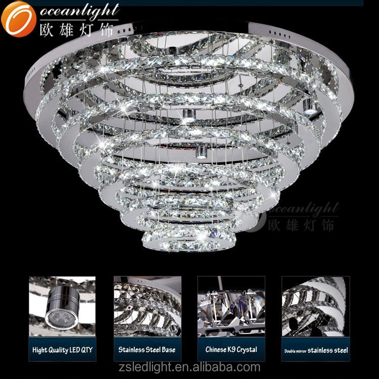mode meilleures ventes grande taille salon cercle cristal lustre mod le cinq couches cercle. Black Bedroom Furniture Sets. Home Design Ideas