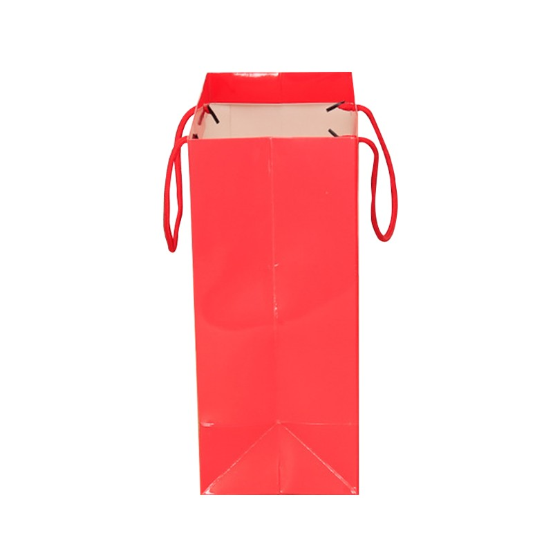 Full Red printed custom made shopping Size unique paper shopping bag with logo