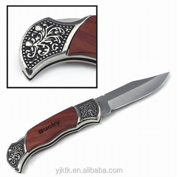 High Quality Rosewood DecoGrip Folding Pocket Knife Rose wood handle