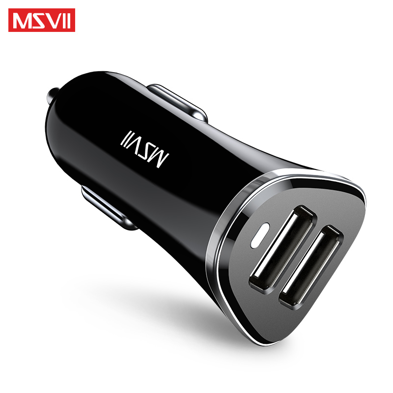 MSVII Dual USB Car Charger Quick Charge 3.0 Output 5V/3.1A Car Phone Charger