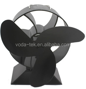 New Design 3 Black Blades High Airflow Eco wood burner stove fan