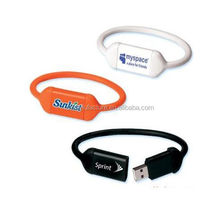 OEM custom logo usb flash drive wrist watch nice wrist band custom reflective slap bracelets
