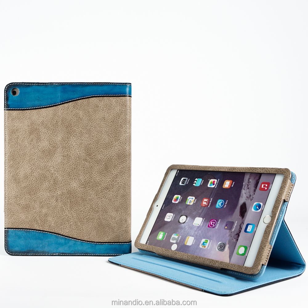 Luxury genuine leather lady tablet case frame for ipad case fashion wholesale