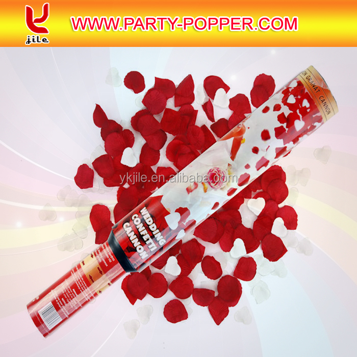 Wedding Party Red Rose Petal Poppers Confetti Cannon Shooter