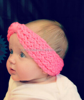 Winter Kids Newborn Toddler Infant Girls flower Headband Crochet Headband  Knitted Bow Hairband Hair Band Accessories c7ec9e2bc3c
