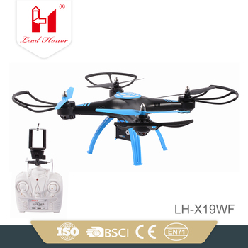 6axis gyro 2.4G FPV wifi rc plastic powerful quadcopter drone with hd camera for play