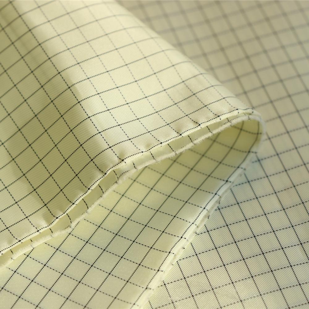 5mm grid 98% polyester filament yarn 2% carbon fiber esd fabric