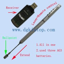 remote control laser pointer with extendable pointer