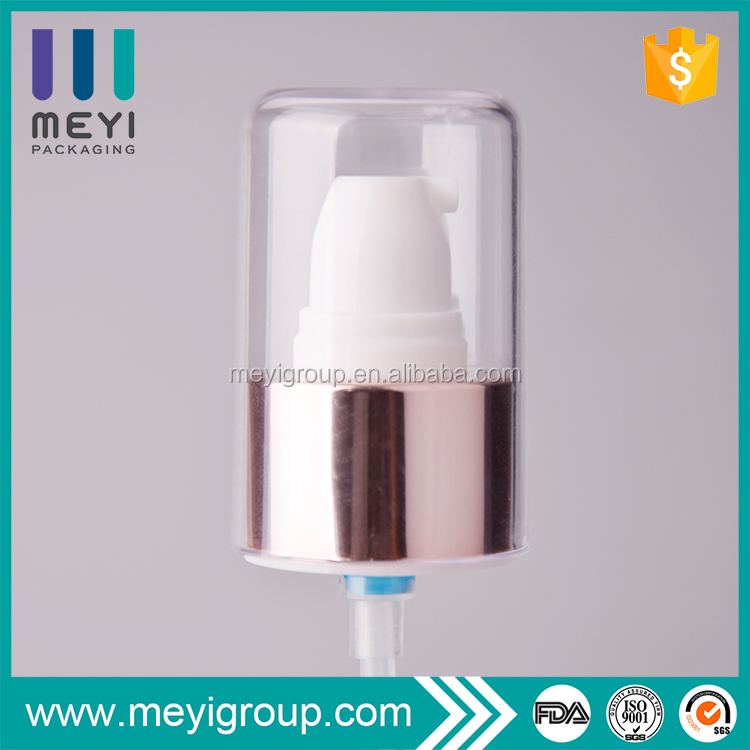 24/410 Metal closure cosmetic treatment pump with AS over cap