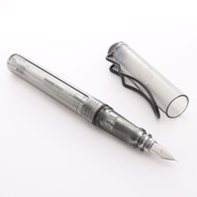 Fashion Transparent Fountain Pen School Supplies Inks Black 0.38mm Office Supplies Office Accessories Pen