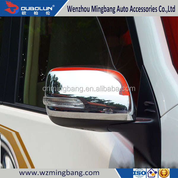 High Quality Door Mirror Cover Car accessories ABS chrome body part Rearview Mirror Cover For Toyota Land Cruiser Prado 2014