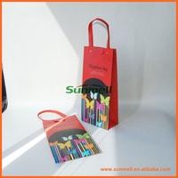custom 3 liter red wine bag with trade price