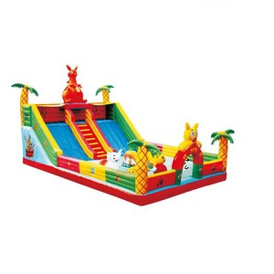 6x6 inflatable castle 30 meters long water slide hot jumping