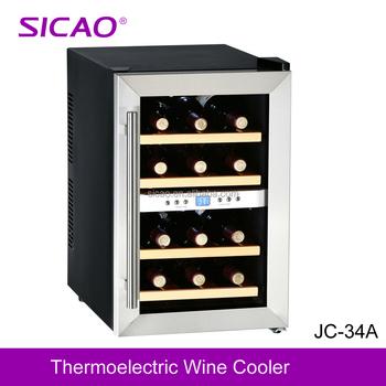 Peltier Mini Wine Chiller Small Display Cabinet Fridge Beverage Cooler