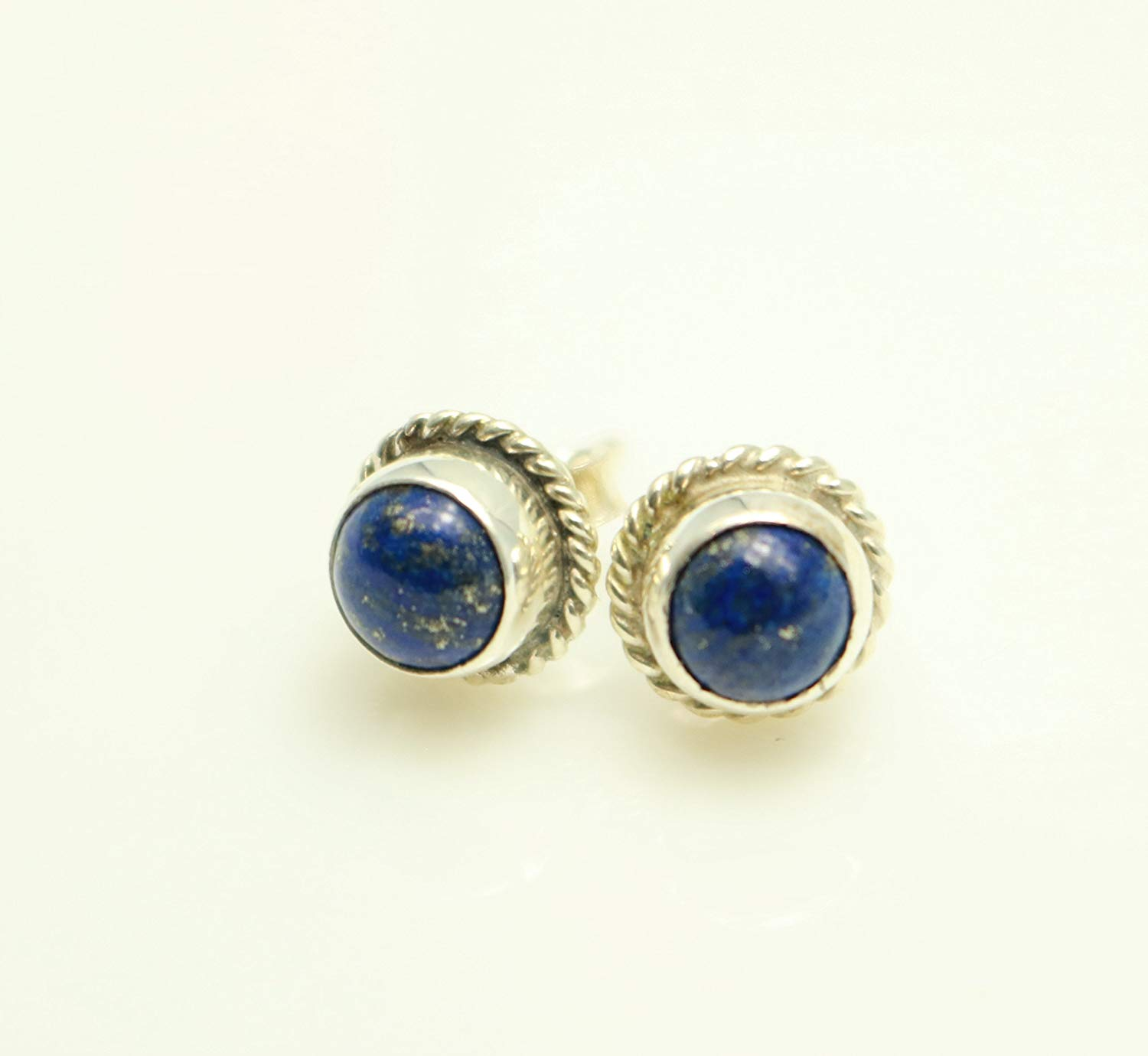 Lapis Lazuli Gemstone Earrings Handcrafted, Semi Precious Stone by Handmade Studio