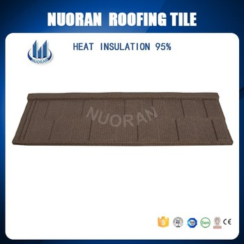 Roof Panel China Blue Color Aluminium Stone Covered Red Roof Tile