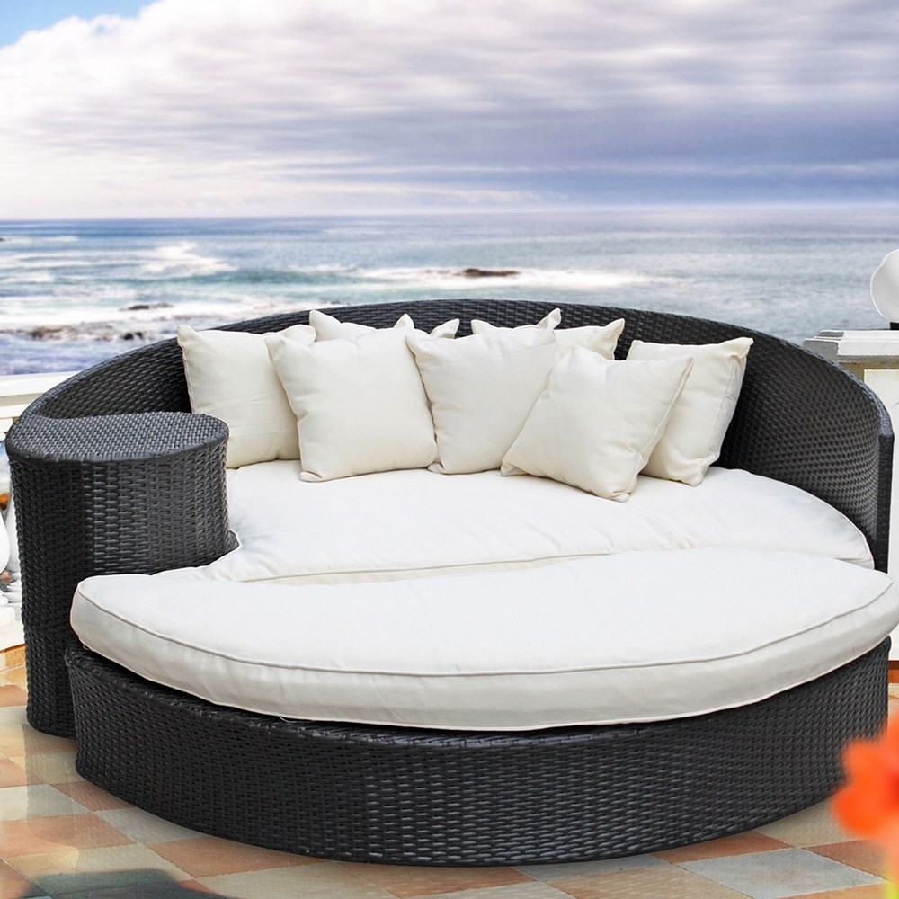 Discount cheap alibaba outdoor furniture wicker sunbed