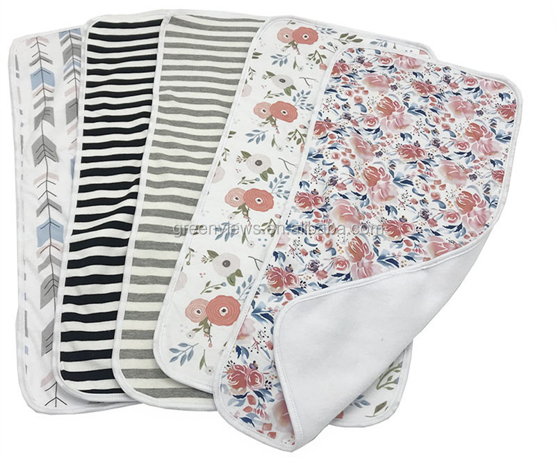 "Baby Burp Cloths Organic Cotton, Large 21""x 10"" Triple Layer  Burping Rags for Newborns Baby"