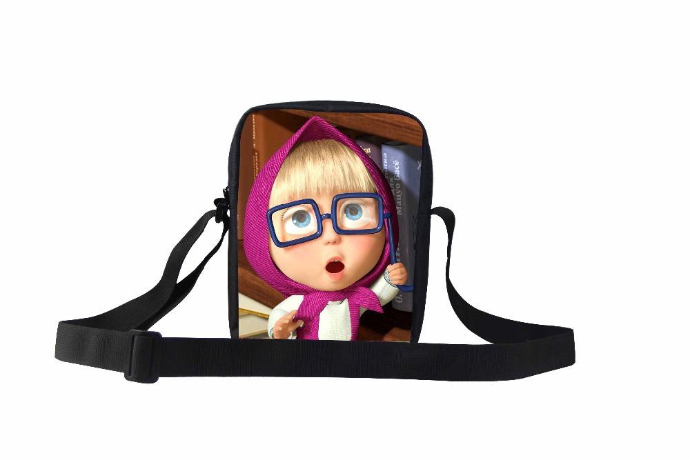 Горячая мультфильм школьные сумки Bolsa подарок для детских садов для детей маша и медведь печать плечо Bookbags милые девушки Mochilas Infantil