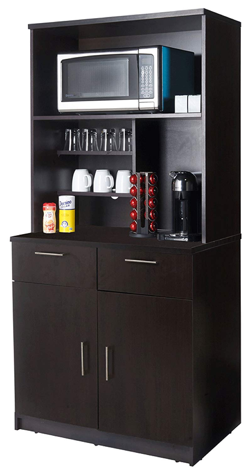 Coffee Kitchen Lunch Break Room Cabinets Model 4230 BREAKTIME 2 piece group Color Espresso - Factory Assembled (NOT RTA) Furniture Items ONLY.