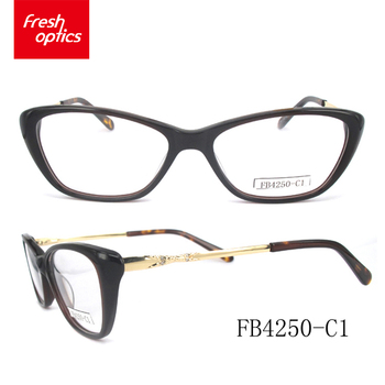 Fb4250 Promotions Acetate Stylish Eyeglass Optical Frames For Girls ...