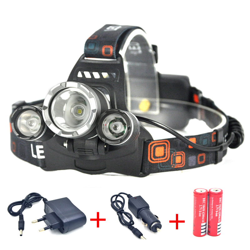 Led Spotlight Headlamp: 5000LM LED Headlamp CREE XML T6 4 Modes Rechargeable