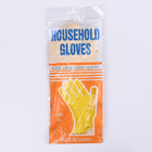 Economy Yellow Rubber Latex Dipped Glove Flock Lined Gloves Cuff Household Gloves