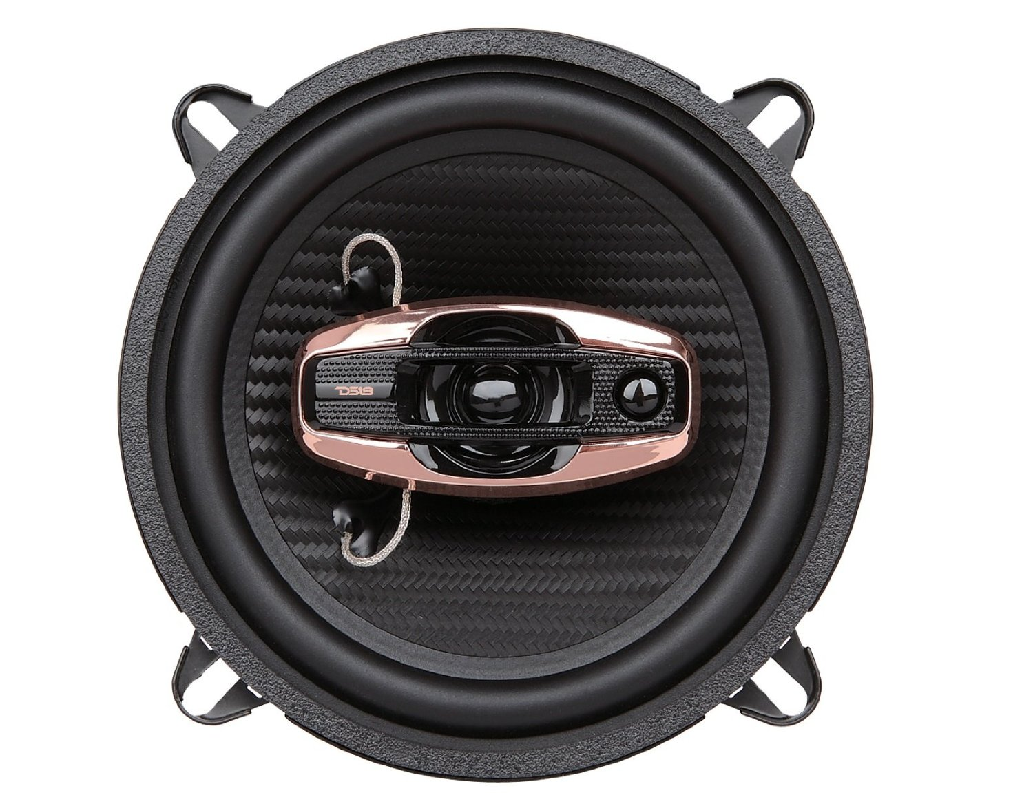 DS18 BD-G5254 DS18 BL4CK DI4MOND Series BD-G5254 5.25-Inch 3-Way 300 Watts Coaxial Speakers - Set of 2
