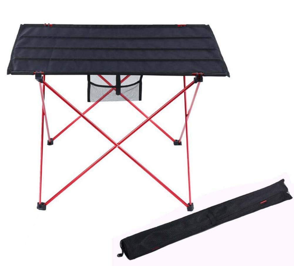 Onfly Outdoor Folding Tables,Portable Collapsible Camping Picnic Desk,Ultralight Folding Backpacking/Carrying Bag,for Hiking Walking Fishing Travel Hunting Sports Party Beach (Color : Red)