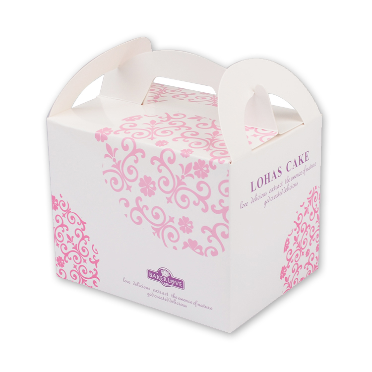 New arrival pink flower paper cake box for cake packaging design