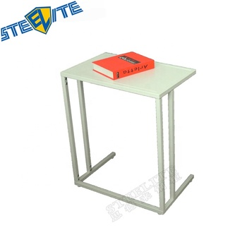 C Shaped Snack End Table Modern Accent