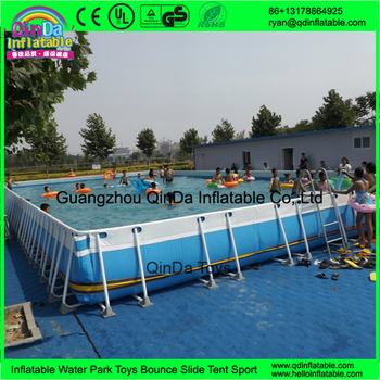 Adult Kids Metal Frame Swimming Pool And Slide Plastic Water Pools