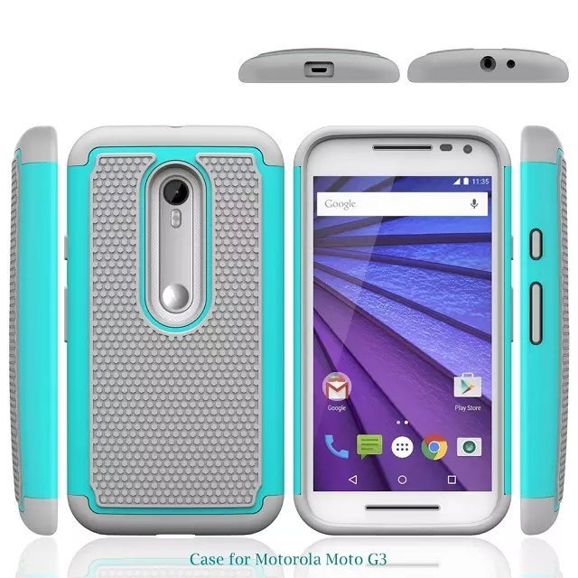 """the best attitude 55f3f 1c110 For Motorola Moto G 3 3rd Gen Case 5.0"""" Heavy Duty Armor Shock Absorbing  Dual Layer Hybrid Rugged Rubber Cover Case For MotoG3"""