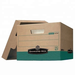 Virgin kraft corrugated archive carton box for packaging and shipping